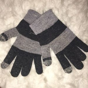 Other - Youth Gray & Black Gloves